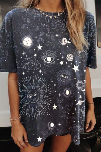 Black Luxury Printing Graphic T Shirts Women New Summer Tees Fashion Girls Oversized Fun Teens Clothes Harajuku Style Loose Tops