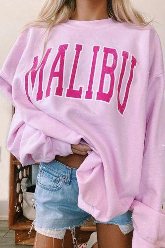 Autumn Women Hoodie Sweatshirt Casual Loose Letter Print Long Sleeve Oversize Jumper Harajuku Pink Hoody Pullover Mujer Coat Top