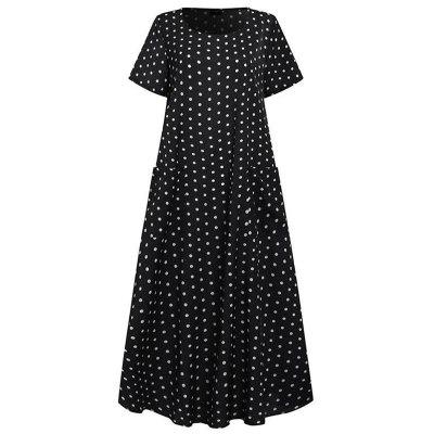 Women Elegant Dandelion Print A-line Dress 2020 Autumn Vintage Long Sleeve Party Dresses Ladies Casual Plus Size Dress Vestidos
