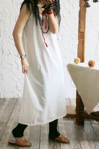 Summer Strapless Dress Woman Vestido 2021 Brief Solid Loose Cotton Maxi Dresses Long Side Split Sleevelss Women Dress Breathable