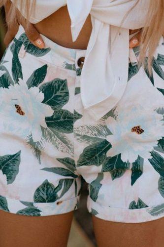 2021 Women'S New Summer Print Shorts