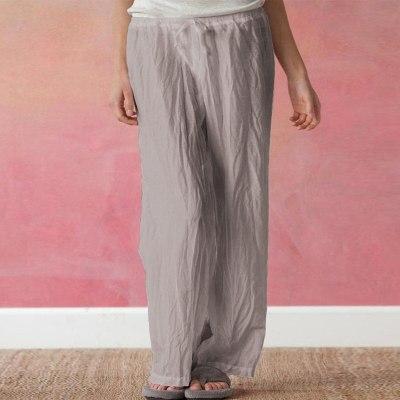 Women Frivolity Loose Casual Solid Color Low-Waisted Bandage Wide Leg Long Pants Ladies trousers спортивный костюм женск