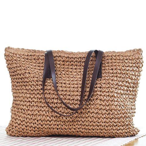 Hot Women Straw Bag Bohemia Handbag Beach Bags Handmade Wicker Summer Tote Bags Rattan Shoulder Bags