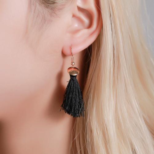 New Style Earrings Fashion Set Tassel Earrings Boho Style Leaf Geometry 6 Pairs Earrings
