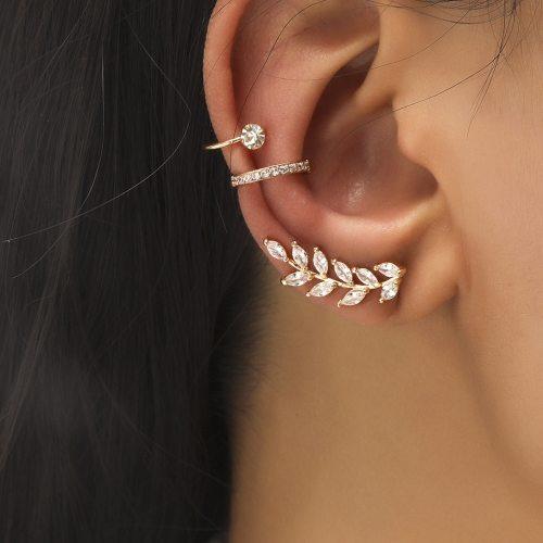 Bohemian NO Piercing Crystal Rhinestone Ear Cuff Earrings For Women Wrap Stud Clip Earrings Girl Trendy Earrings Jewelry Bijoux