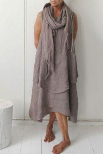 2021 New Cross-Border Women'S Double-Layer Sleeveless Long Irregular Dress