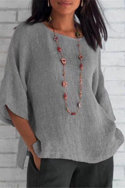 5XL Plus Size Tops Summer Women Cotton Linen Blouse 2020 Casual Loose Solid Colors Shirt Fashion Ladies Big Size Top Streetwear