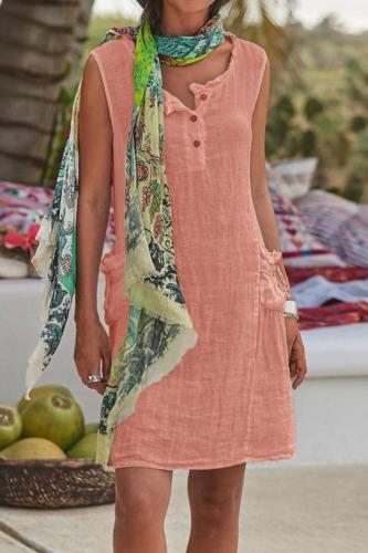 2021 Hot New Casual Buttoned Women'S Dress