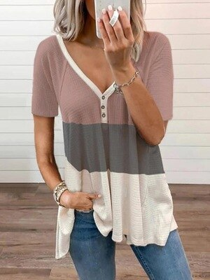 T-Shirts Casual Shirt Short Sleeve Summer Tshirt Women's Clothing Gifts
