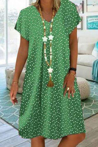 2021 Bohemian Women Dress Summer Sundress Dress Ladies Loose Dot Print Dress Maxi Vintage Elegant Dress Beach Clothes