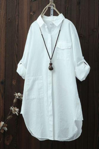 Plus Size Linen Shirt Women White Button Down Shirt Long Sleeve Loose Casual Cotton Blouse Womens Tops and Blouses Shirts Blusas