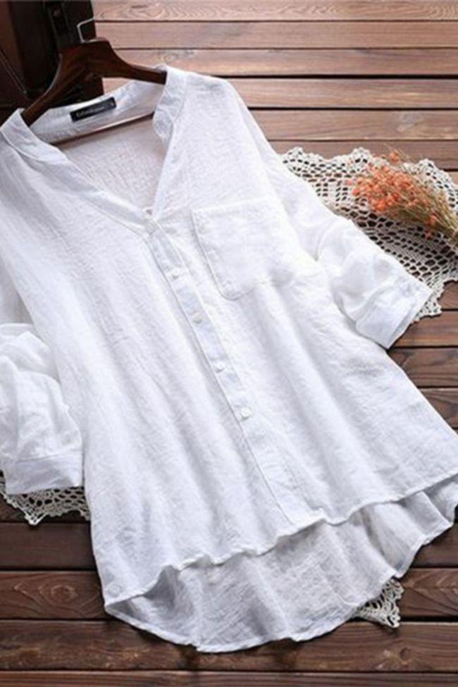 Fashionable Women's Shirt Blouse Cotton Autumn Ladies Tops Long Sleeve Blouses Office Camisa Feminina Korean Blouses White