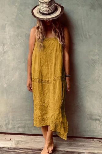 Summer Fashion Colorful Geometric Print Loose Fluffy Midi Dress Female Casual Party or Shopping Plus Size Shoes FZ181