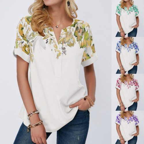 Large Size 5XL Oversized Ladies Tops Short Sleeve Print Women T Shirt Summer 2021 New Female Casual Loose Plus Size Tee Clothes