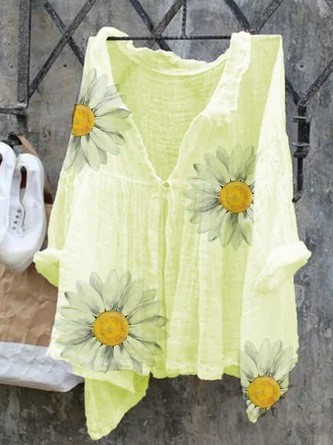 Large Size Loose Women Blouse 2021 Autumn Blouses Tops Casual Bat Sleeve Printed Women Shirts