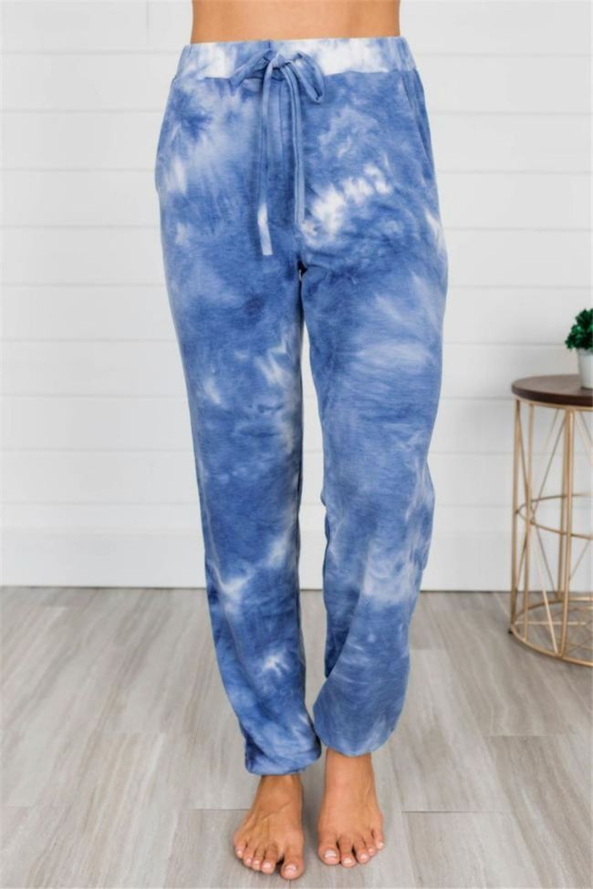 Fashion Tie-dye Print Pants For Women 2021 Streetwear High Waist Jogger pantalones mujer pantalon femme Trousers