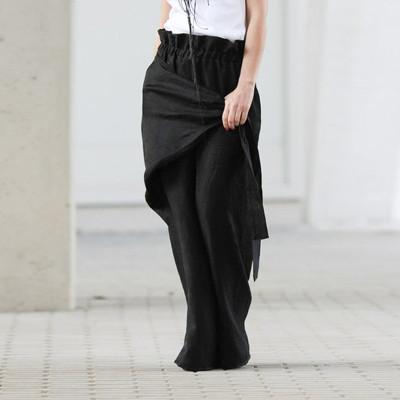Women Wide Leg Pants 2021 Spring Summer Female Casual Elastic Waist Pants Women's Trousers Plus Size Bottom Pantalon S-5XL