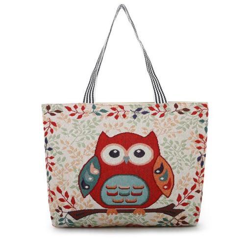 Casual Shoulder Owl Printed Shoulder Bags
