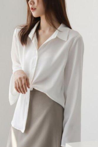 Vintage Womens Tops And Blouses Causal Elegant Chiffon White Blouse Long Sleeve Ladies Blouses Shirt Korean Tops Spring