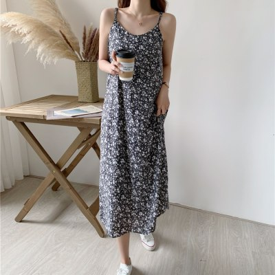 High Quality Women's Dress Summer Spaghetti print  Long dress Boho A-line Maxi Party Vestidos Vintage Casual Beach Sundress