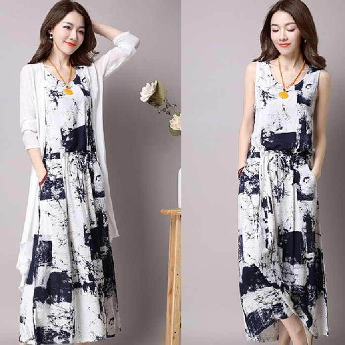 Two Piece Set for Women Spring Dress and Cardigan Sets Long Sleeve Outerwear Female Vintage Clothing Office Ladies Fashion 2020