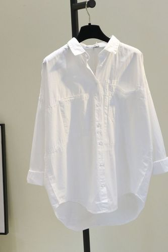 Women Blouse Spring Loose Style Casual Shirt White Cotton Blusas Ropa De Mujer
