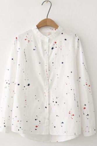 Long Sleeve Women Print Blouse 2021 Women Spring New Fashion Casual Tops Office Lady Wear blusas mujer de moda