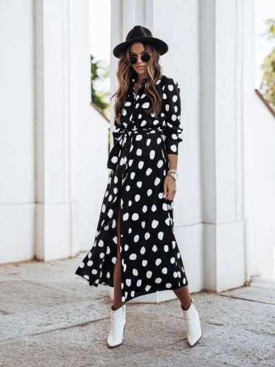 2021 New Floral Print Dress Women Boho Vintage Turn Down Long Sleeve Plus Size Elegant Ladies Casual Shirt Dresses Vestidos