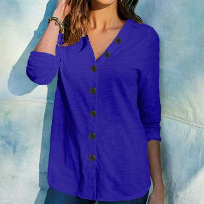 Shirt Blouse Fashion 2021 Autumn Winter Large Size Tops Women Casual V Neck Shirt Ladies Loose Floral Print Tunic Shirt