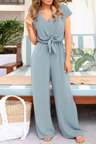 Women Jumpsuit Female Clubwear Outfits Summer Elegant Ladies Short Sleeve Solid Fashion Girl Rompers Clothing