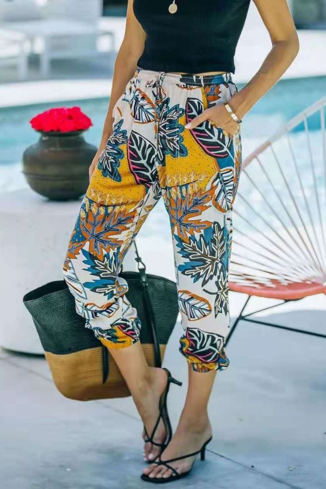 2021 New Women's Pants Casual Printed Women's Pants Plus Size Pants Women Fashion Trousers Women Y2k Pants Vintage Streetwear