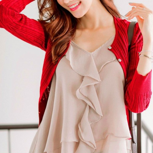 New Women's Autumn Sweater Cardigan Women Sweaters Spring Summer Fashion Short Solid Cotton New S-XL