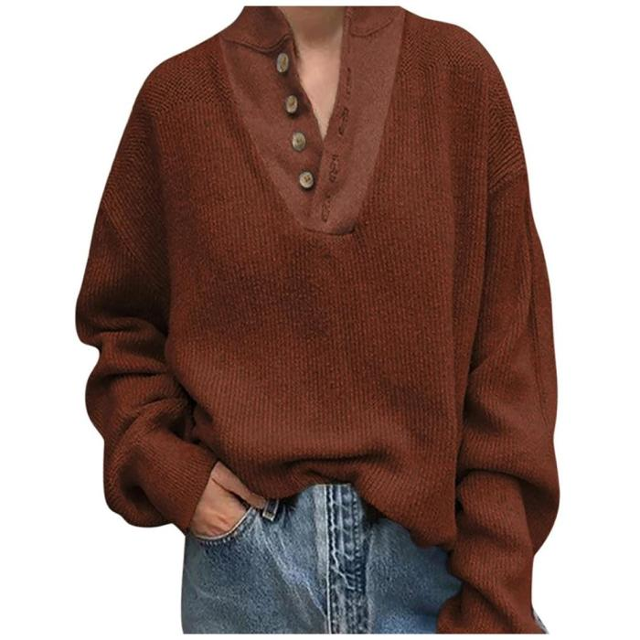 Fashion Pull Femme Hiver Nouveaute 2020 Women Solid Color Leisure Time Stand Collar Long Sleeves Oversized Sweater Tops Jumpers