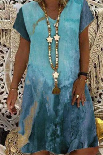 Women Summer Vintage Peacock V-neck Printed Dress Line Boho Casual Party Elegant Dresses 2021 Plus Sizes