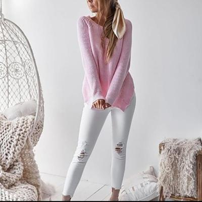 Slim Women Sweater Autumn Side Slit Thermal Knitted Womens Outwear Sweaters 2019 Fashion Womens Solid Casual Pullovers