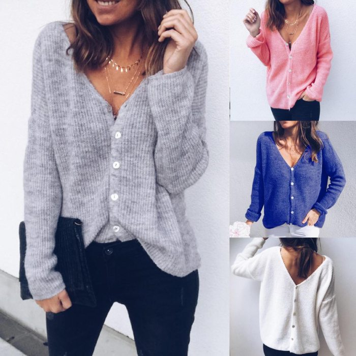 S-XL 2021 autumn winter women cardigan warm knitted sweater jacket pocket embroidery fashion knit cardigans coat lady loose F4