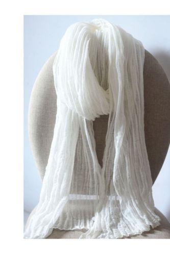 Linen Texture Folds Small Size Zen Dance Scarf Cotton Linen Silk Scarf Spring And Autumn Temperament Travel Shawl Scarf Women