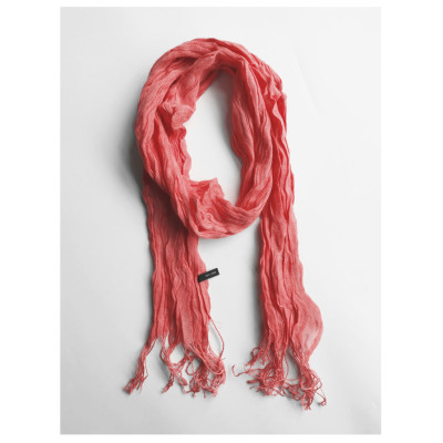 Candy-Colored Pleated Scarf Women'S Spring And Summer Thin Section Slender Narrow Neck Protection Solid Color Texture Literary Japanese Spring And Autumn Silk Scarf
