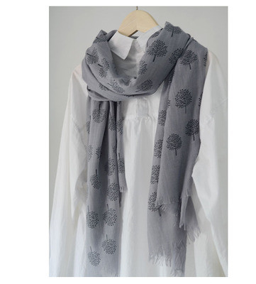 Japanese Dandelion Print Cotton And Linen Scarf Women All-Match Spring And Autumn Silk Scarf Shawl