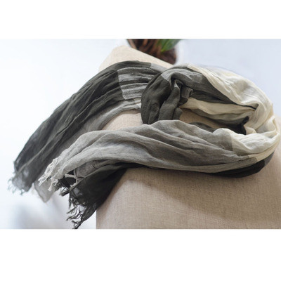 Japanese Cotton Scarf Female Autumn And Winter Color Matching Big Plaid Scarf, Summer Sunscreen Shawl Silk Scarf
