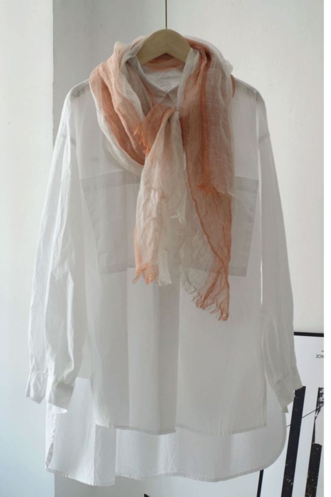 Japanese Style Color Matching Literature And Art Small Fresh Linen Scarf Women Summer Thin Sunscreen Shawl Long Travel Holiday Silk Scarf