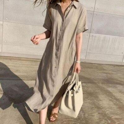 newest women long dress with belt female linen dresses good quality women cotton clothes elegant women fashion style linen cloth