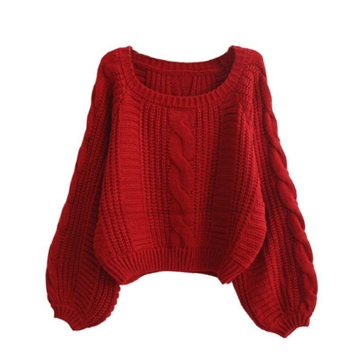Women Sweaters 2021 Autumn Warm Pullover And Jumpers Women Crew Neck Long Sleeve Twist Pull Jumpers Harajuku Knitted Sweaters