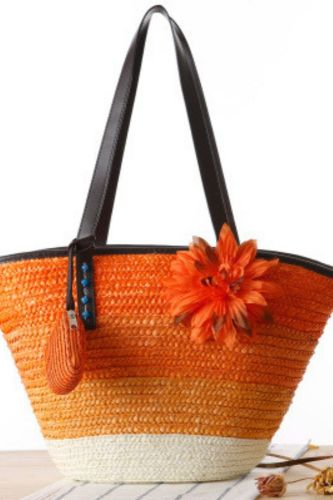 New Korean Style Straw Woven Buns And Mother Bags Hand-Woven Bags Shoulder Bags Beach Bags Fashion Women Bags