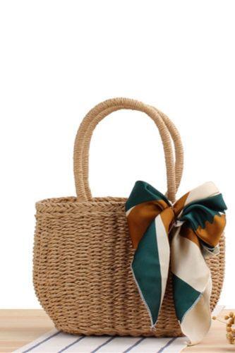 New Korean Version Of Handmade Straw Woven Bag Holiday Beach Woven Female Bag Leisure Portable Small Bag