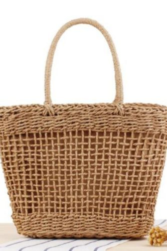 Ins Portable New Hollow Woven Bag Holiday Outing, Vegetable Basket, Trendy Personalized Straw Bag