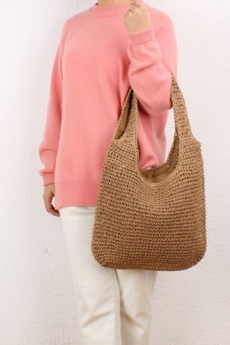 One-Shoulder Straw Bag Sen Series Hand-Woven Bag Leisure Large-Capacity Beach Bag