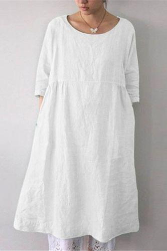 2021 Comfortable O-Neck Ladies Dress Leisure Wear Short Sleeve Loose Casual Pajamas For Women