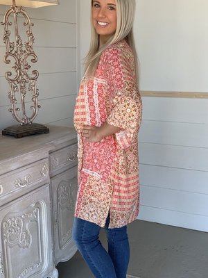2021 Women'S Cardigan Positioning Printing Three-Quarter Sleeve Sunscreen Shirt