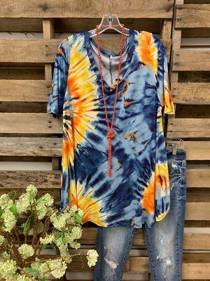 Ins 2021 Ladies T-Shirt Loose Short Sleeve Sun Flower Print Top